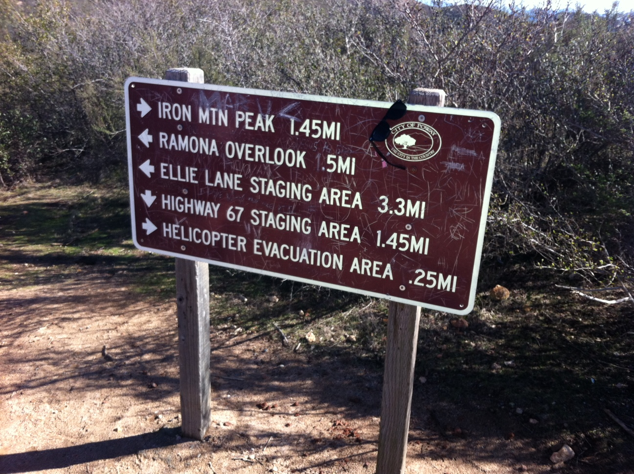 Hybrid Hike:  Iron Mountain/Ellie Lane Trail. Poway, CA