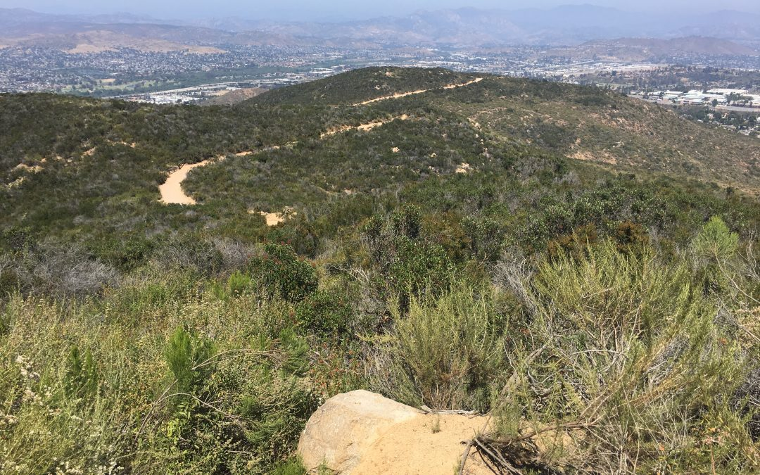 Cowles Mountain via Barker Way Fire Road Trail:  10/22/2017 Hiker Therapy
